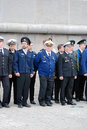 Men in uniform at Navigation season opening in Moscow Royalty Free Stock Photo