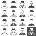 Men users icons occupation and people vector illustration simplus series Royalty Free Stock Image