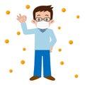 Men who of hay fever prevention