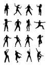 Men and women dancing Zumba