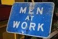 Men at Work Sign Royalty Free Stock Photo