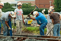 Men Working on Railroad Track Royalty Free Stock Image