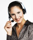 Menager the manager young woman speaking by phone Royalty Free Stock Image