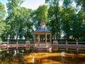 Menagerie Pond Bosquet in The Summer Garden in St. Petersburg, Russia