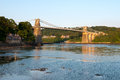 Menai bridge north wales uk Royalty Free Stock Photos