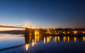 Menai bridge straits sunset isle anglesey north wales Royalty Free Stock Photography