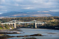 Menai straits from anglesey north wales Royalty Free Stock Photos