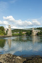 Menai suspension bridge. Stock Photos