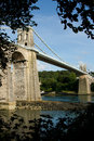Menai suspension bridge. Royalty Free Stock Photo