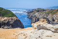 Mendocino coast formation rock by the mighty pacific ocean at the coastline Stock Photography