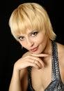 Menina do blonde do sorriso Fotos de Stock Royalty Free