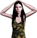 Menina do exército Fotos de Stock