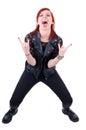 Menina do hard rock Fotografia de Stock