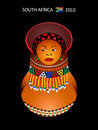 Menina do tribo Zulu de Matryoshka Foto de Stock Royalty Free