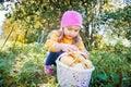image photo : Girl in a garden