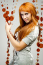 Menina Red-haired Fotos de Stock Royalty Free