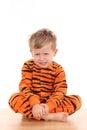 Menino do Pyjama Fotos de Stock