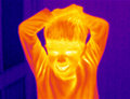 Menino Thermograph-Irritado Foto de Stock Royalty Free