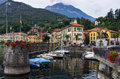 Mennagio Harbour - Lake Como Stock Images