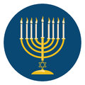 Menora For Hanukkah Celebration Royalty Free Stock Photo
