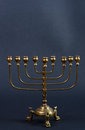 Menorah on the black background Royalty Free Stock Image