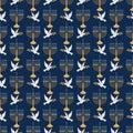 Menorah and Dove Seamless Pattern