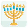 Menorah vector illustration of Royalty Free Stock Images