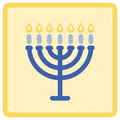 Menorah vector illustration of Stock Images
