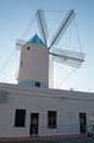 Menorca balearic islands spain moli de dalt windmill in the town of sant lluis on july moli de dalt windmill built in xviii Royalty Free Stock Photos