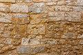 Menorca castle stonewall ashlar masonry wall texture antique in balearic islands Stock Images