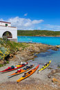 Menorca es grau kayak adventure in balearic islands of spain Royalty Free Stock Photos