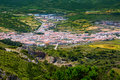 Menorca es mercadal aerial view from pico del toro in balearic islands Royalty Free Stock Image