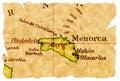Menorca old map Stock Photos
