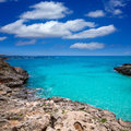 Menorca platja es calo blanc in sant lluis at balearic islands of spain Royalty Free Stock Photos