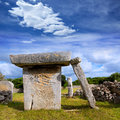 Menorca taules of talati de dalt prehistoric tables in balearic islands Stock Photography