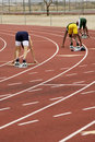 Mens 400 meter run Royalty Free Stock Images
