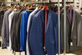 Mens clothing in a retail store Stock Image