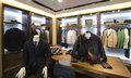 Mens clothing store a luxury with Royalty Free Stock Photography