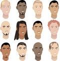 Mens Faces 3 Royalty Free Stock Photo