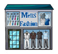 Mens fasion shop illustration of on a white background Stock Image