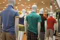 Mens mannequin fashion in store Stock Image