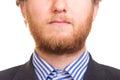 Mens met rode baard Stock Fotografie