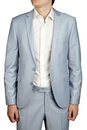 Mens Prom dress suit, Light Blue Pastel blazer and trousers.