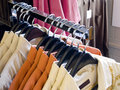 Mens Shirt Rack Stock Photo