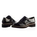Mens shoe modern fashionable shot in studio Stock Image