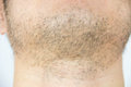 Mens short beard
