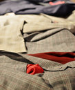 Mens suits detail of a man suit in a clothing store Royalty Free Stock Photography