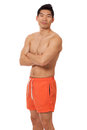 Mens in Swimwear Stock Afbeeldingen