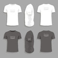Mens t-shirt design template Royalty Free Stock Photo