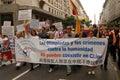 Menschenrechte Torch in Buenos Aires Lizenzfreies Stockfoto